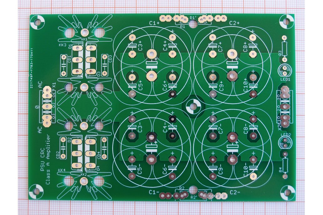 PCB CRC Power Supply for Class A Amplifiers 2