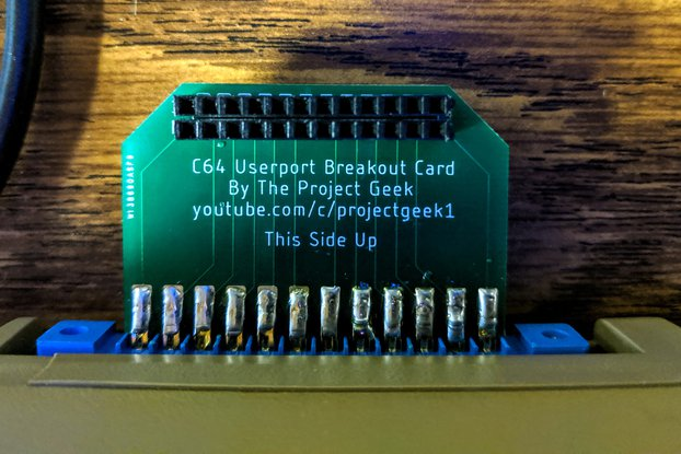 Commodore 64 User Port Breakout Board