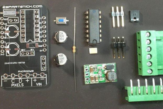 5/12v Pixel Controller D1 Mini Shield Kit