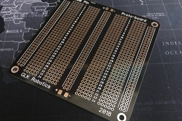 680-Pin, 136-Row Protoboard, HASL Finish