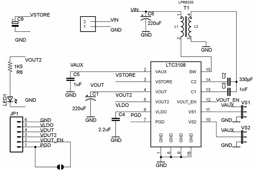 LTC3108 body heat Energy Harvesting breakout TEG