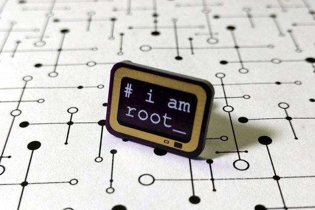i am root PCB Lapel Pin