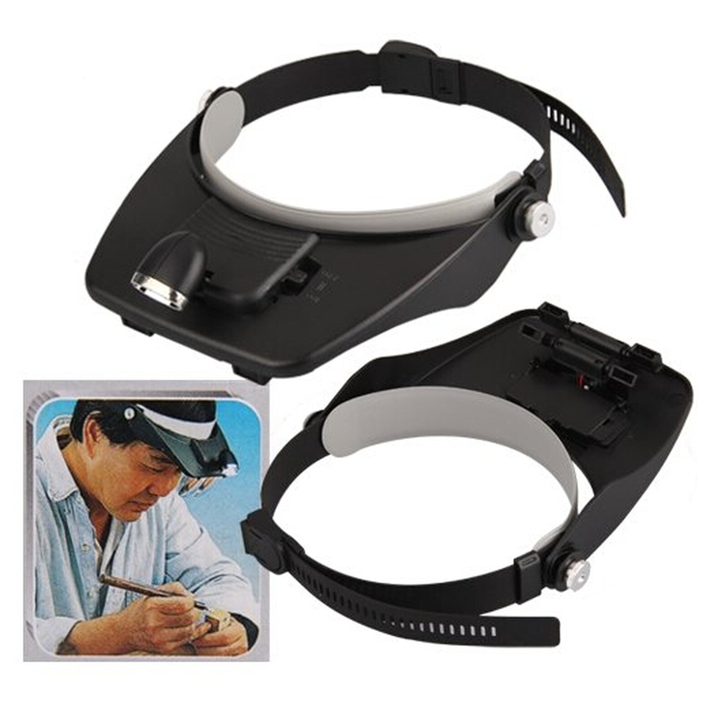 Led Head Light Magnifying Glass Loupe From Universbuy On