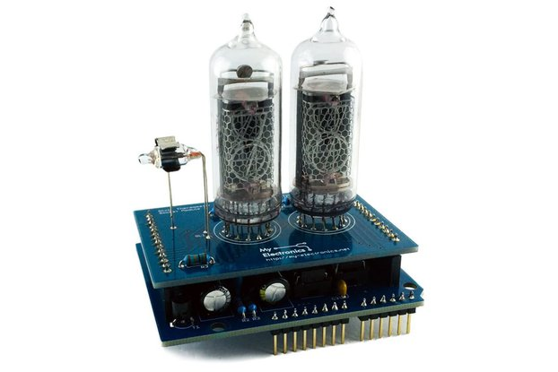 Nixie Thermometer Shield for Arduino