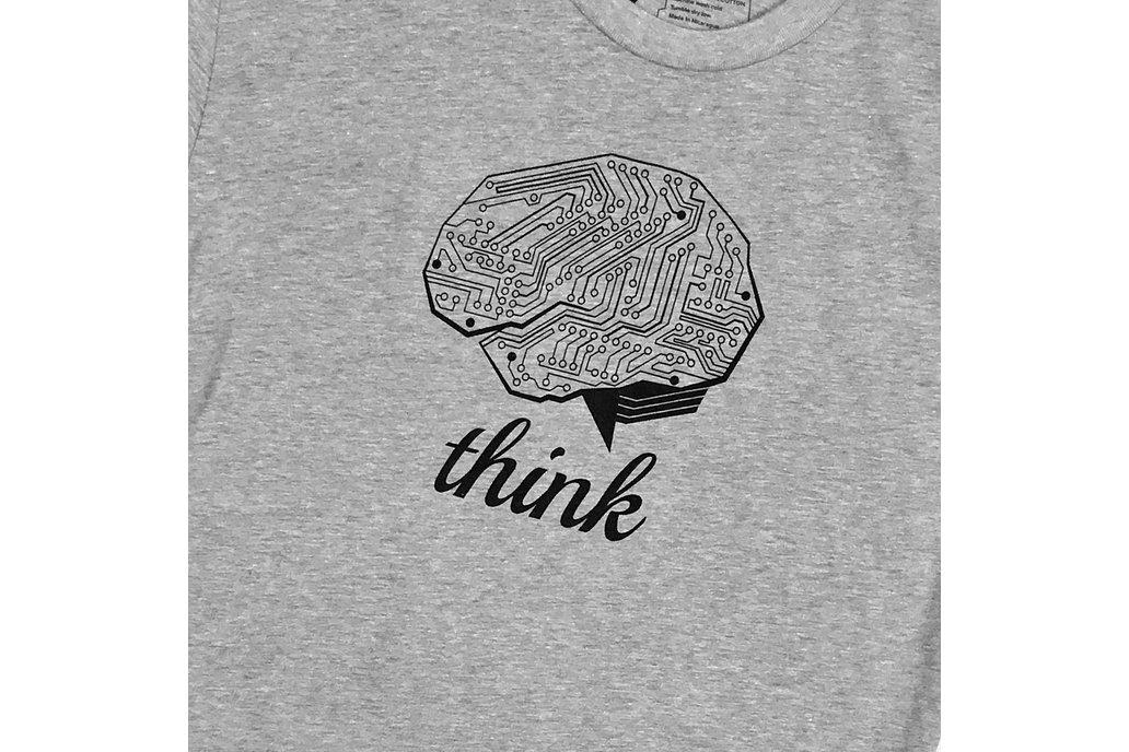 THINK TECH (Grey) Graphic T-shirt 1