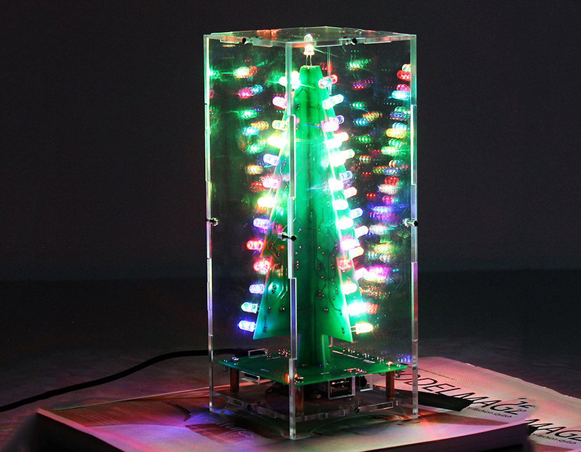 DIY Xmas Tree RGB Flash Light Support MP3(12368) from ICStation on ...
