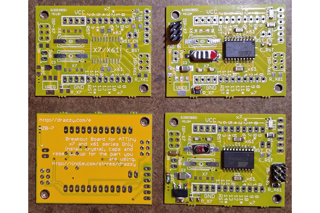 ATTiny 167/87/861/461/261 breakout (bare board) 1