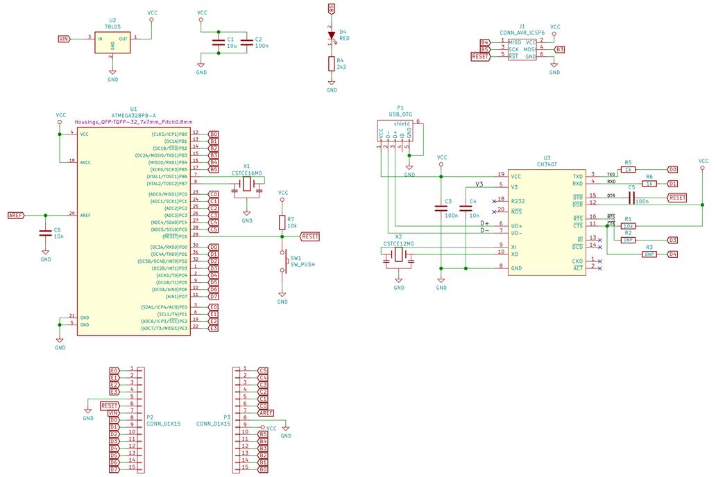 ATmega328PB Development Board 6