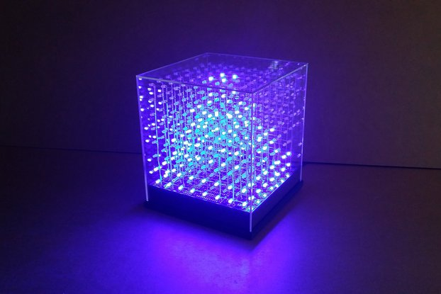 jolliCube – 8x8x8 LED Cube (SPI) DIY Kit