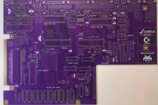 Commodore Amiga 500 Logic Board / Motherboard