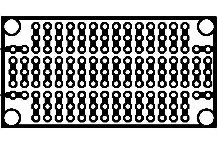 "1""x2"" prototyping board"
