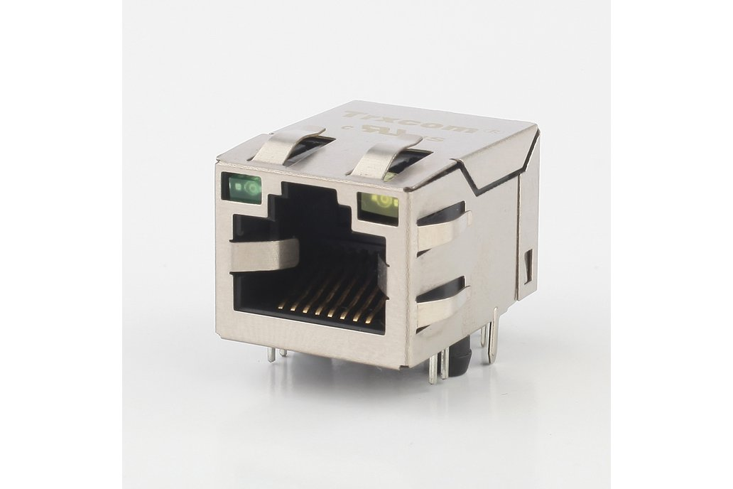 10/100M Single Port Tab-Down HFJ11-2450E-LS12RL 1