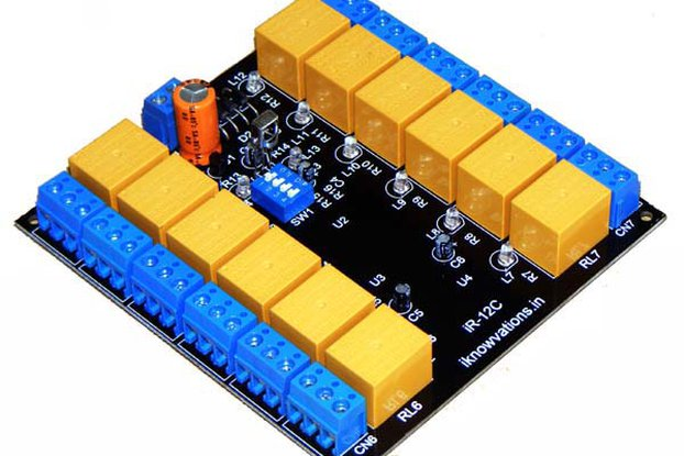 12 channel IR infrared remote control relay board   iR-12C