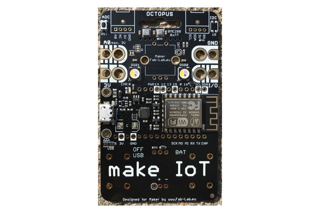 #IoT OCTOPUS - Badge for IoT Evaluation 1