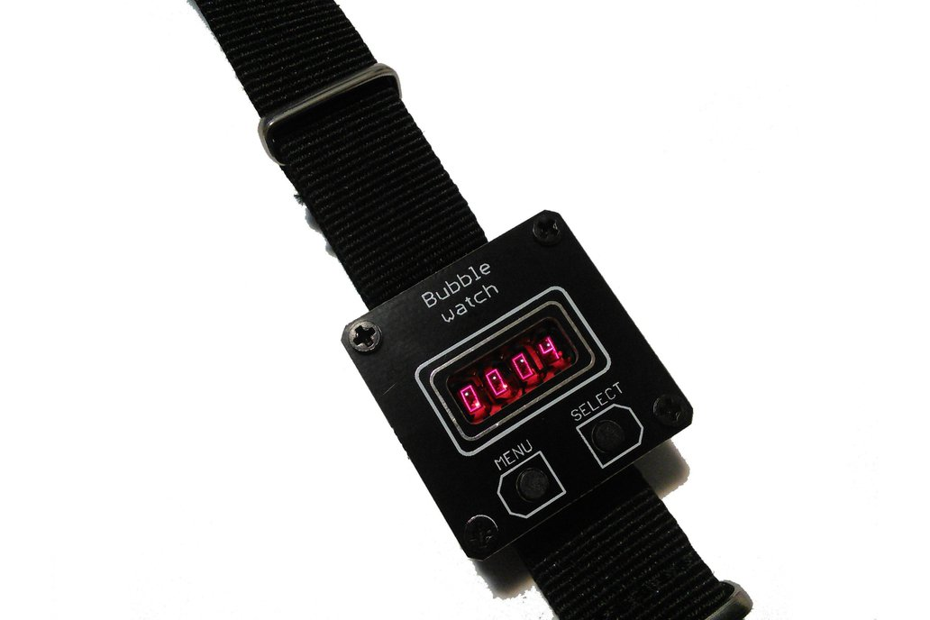 retro wrist watch with bubble display QDSP 6064 2