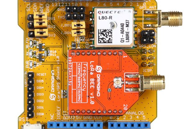 Arduino Shield featuring GPS