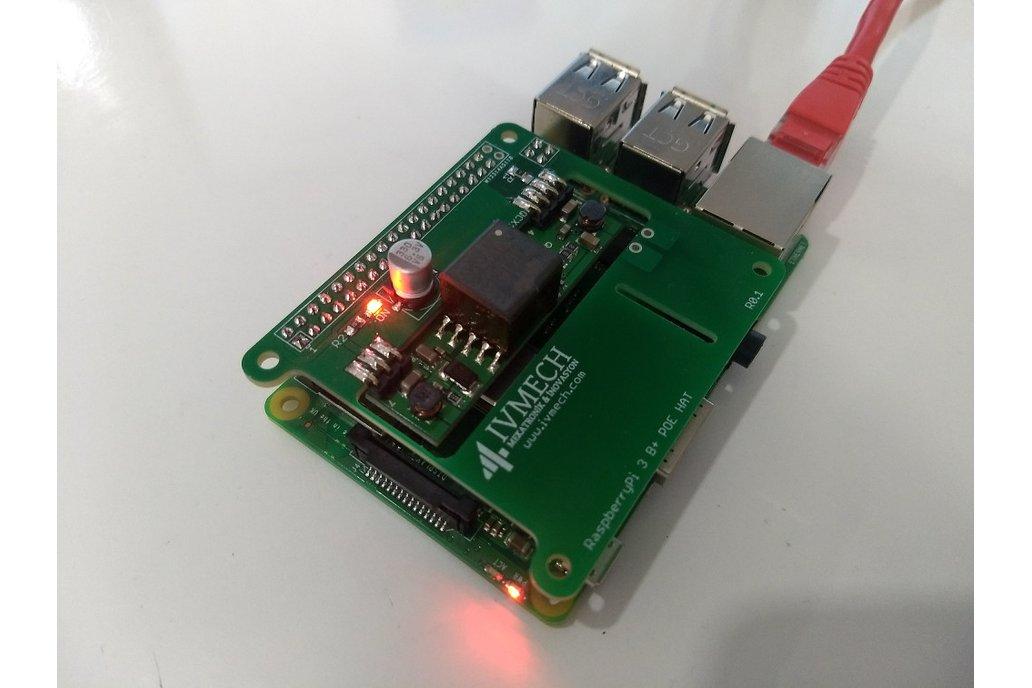 Power Over Ethernet HAT for Raspberry Pi3 Model B+ 3