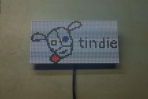 64x32 RGB Led Matrix Complete Kit