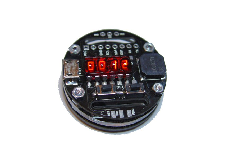 Rechargeable Retro Bubble Display LED Watch