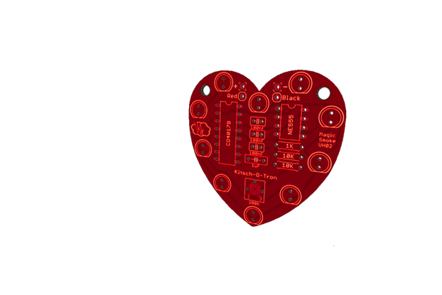 Heart-Shaped LED Chaser (PCB only)