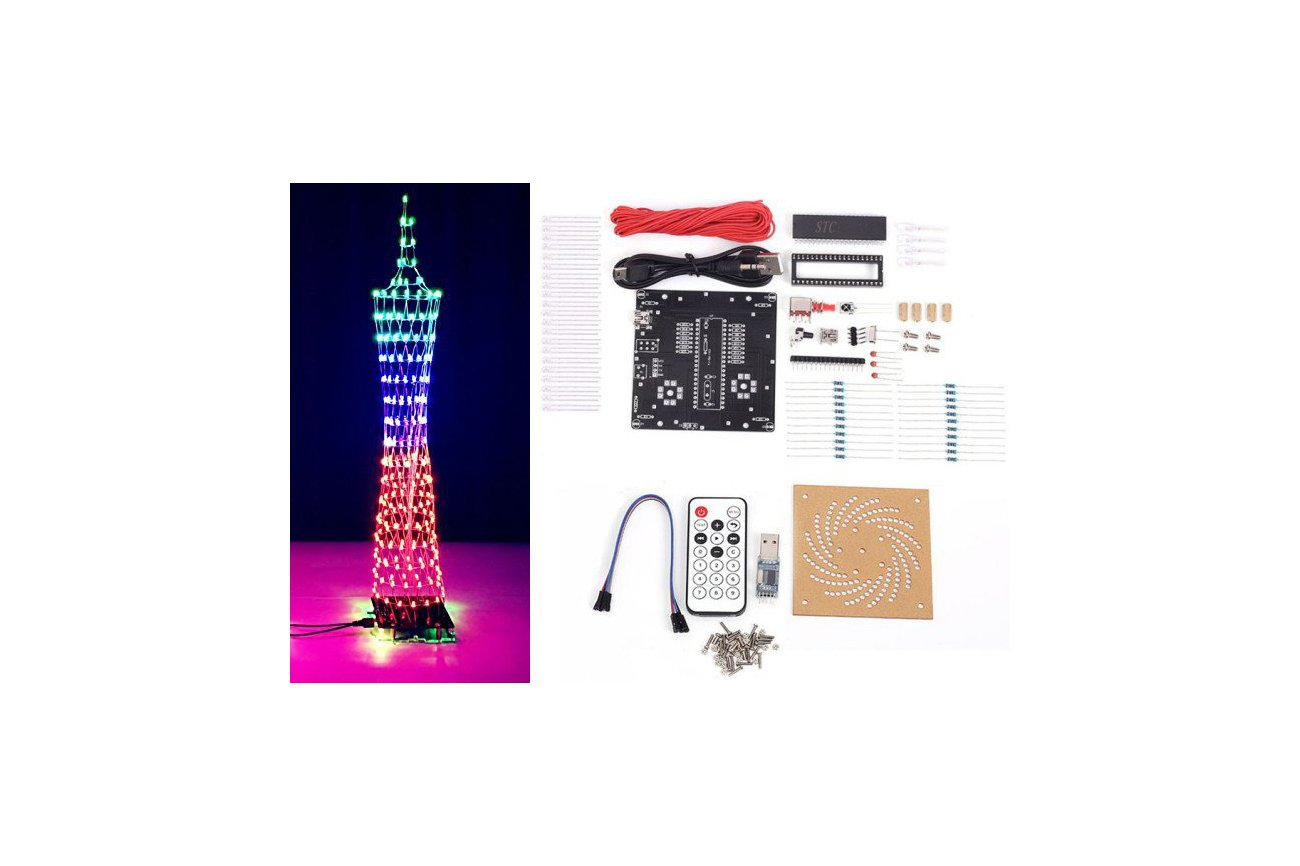 diy kit colorful led tower display 12320 from icstation on tindie. Black Bedroom Furniture Sets. Home Design Ideas