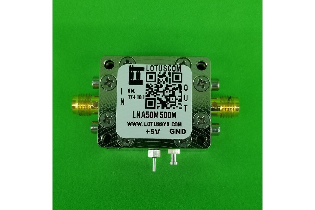 Amplifier LNA 1.0dB NF 50MHz to 500MHz 1