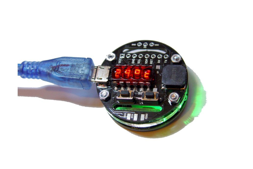 Rechargeable Retro Bubble Display LED Watch 3