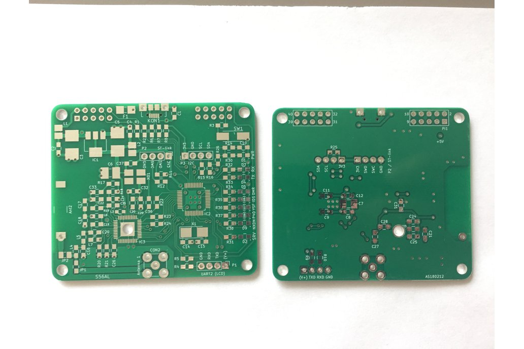 Bare PCB MMDVM HotSpot hat for RPi type B - S56AL 1