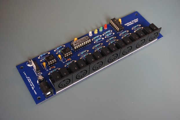 MIDI MERGER / SPLITTER 2in->5out Thru  PCB or Kit