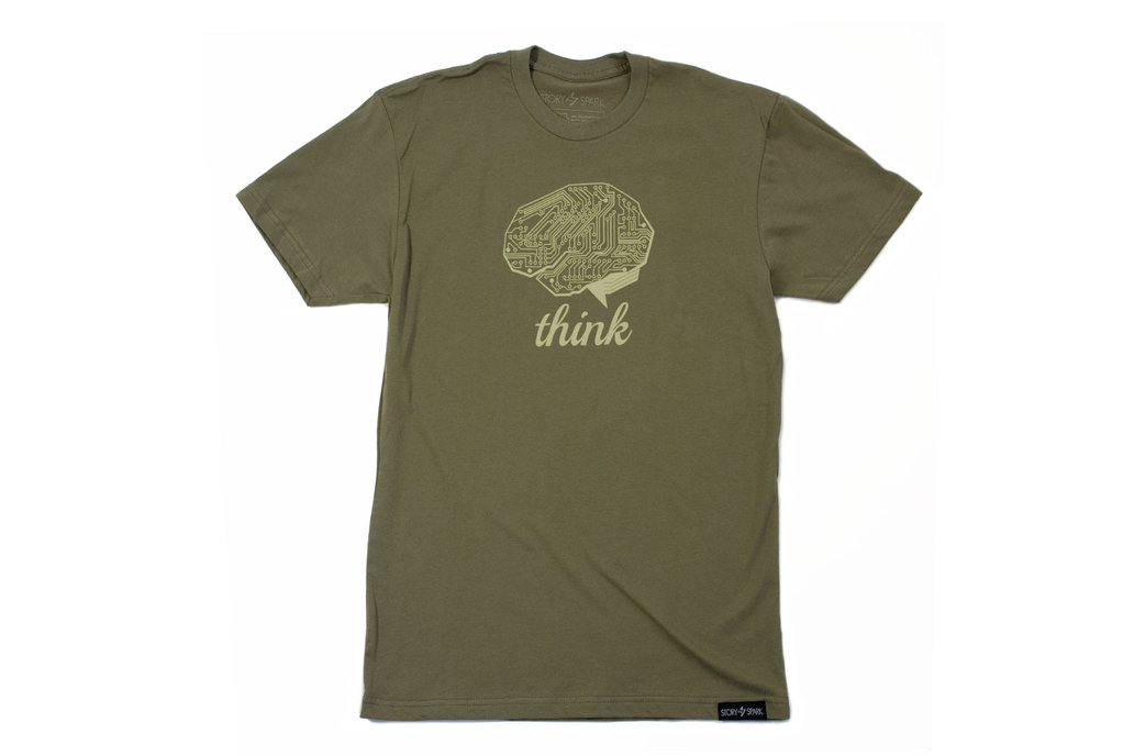THINK TECH  - Mens Fashion Fitted Graphic T-shirt 2