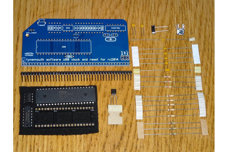 Z80 CPU, Clock and Reset Module for RC2014