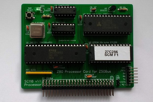 SC118 Z80 Processor Card Kit for Z50Bus