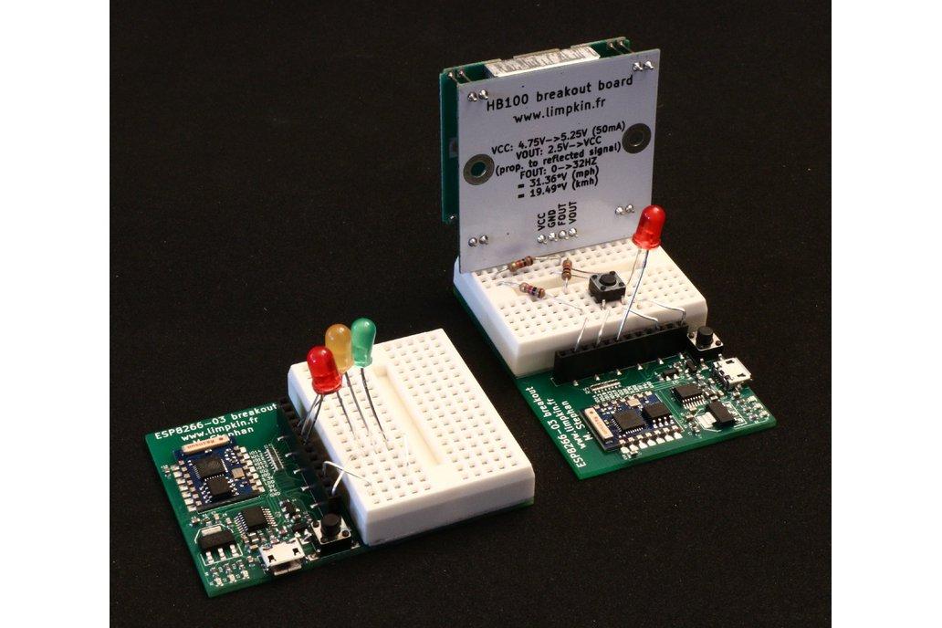 ESP8266 Wifi Module Breakout, USB, 3.3V, Prog But. 2
