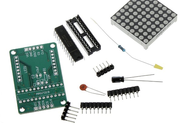 MAX7219 Dot Matrix Module DIY Kit SCM Control