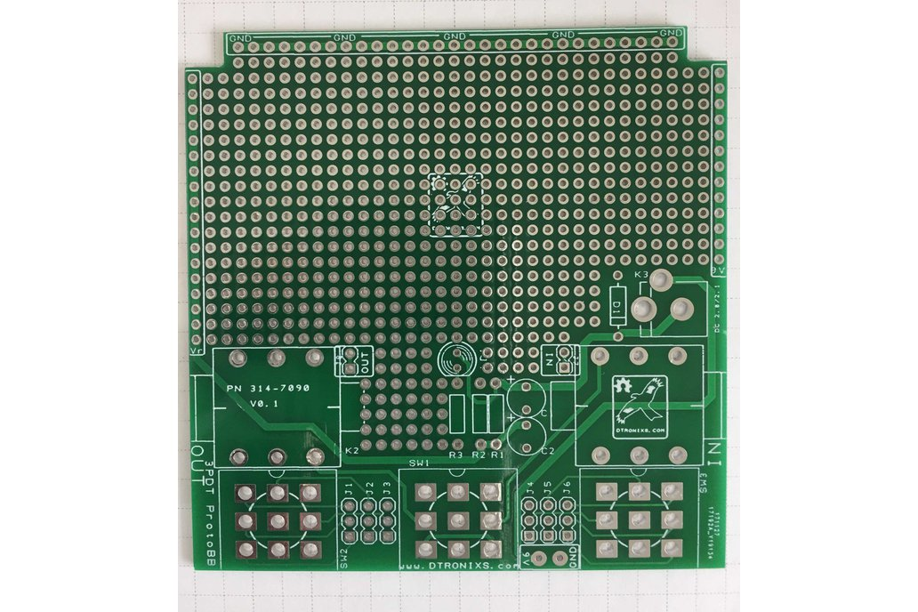 Guitar Effects/Stomp Box prototyping board 1590BB 1