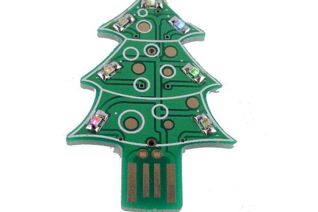 USB & Supercapacitor powered LED Xmas tree - KIT
