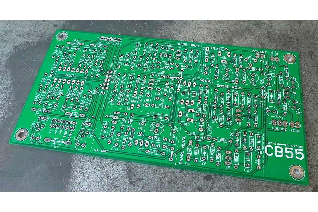 CB55 - Boss DR55 analogue drum sounds clone PCB 1