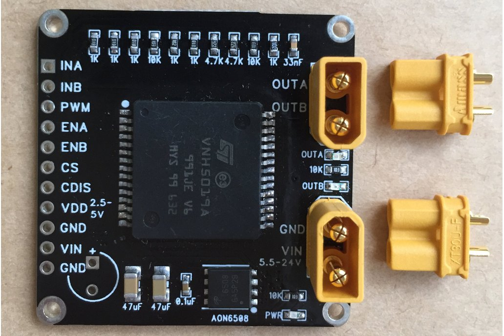 VNH5019 Motor Driver H-Bridge with AMASS plugs 1