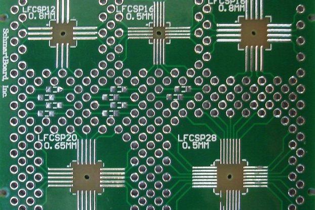 SchmartBoard|ez .5mm QFN PCB