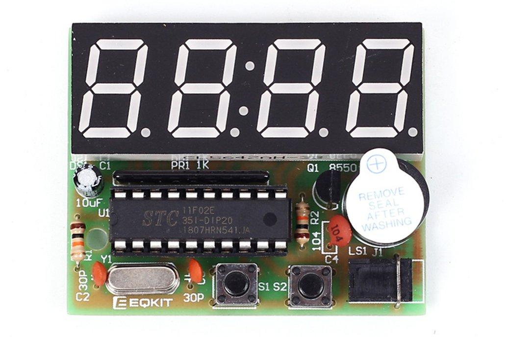 C51 4Bits LED Electronic Alarm Clock DIY Kit(1765) 1