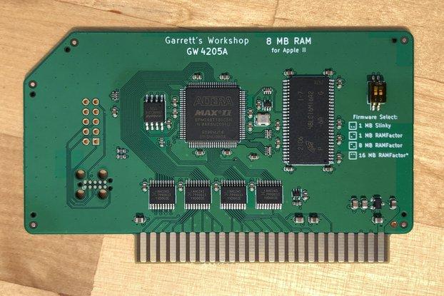GR8RAM -- 8 MB RamFactor/Slinky RAM for Apple II
