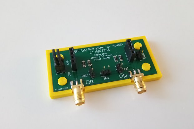 Filter Adapter QRP V2 for NanoVNA (built or kit)