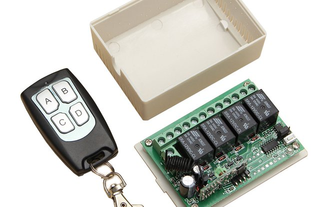 Geekcreit® 12V 4CH Channel 433Mhz Wireless Remote