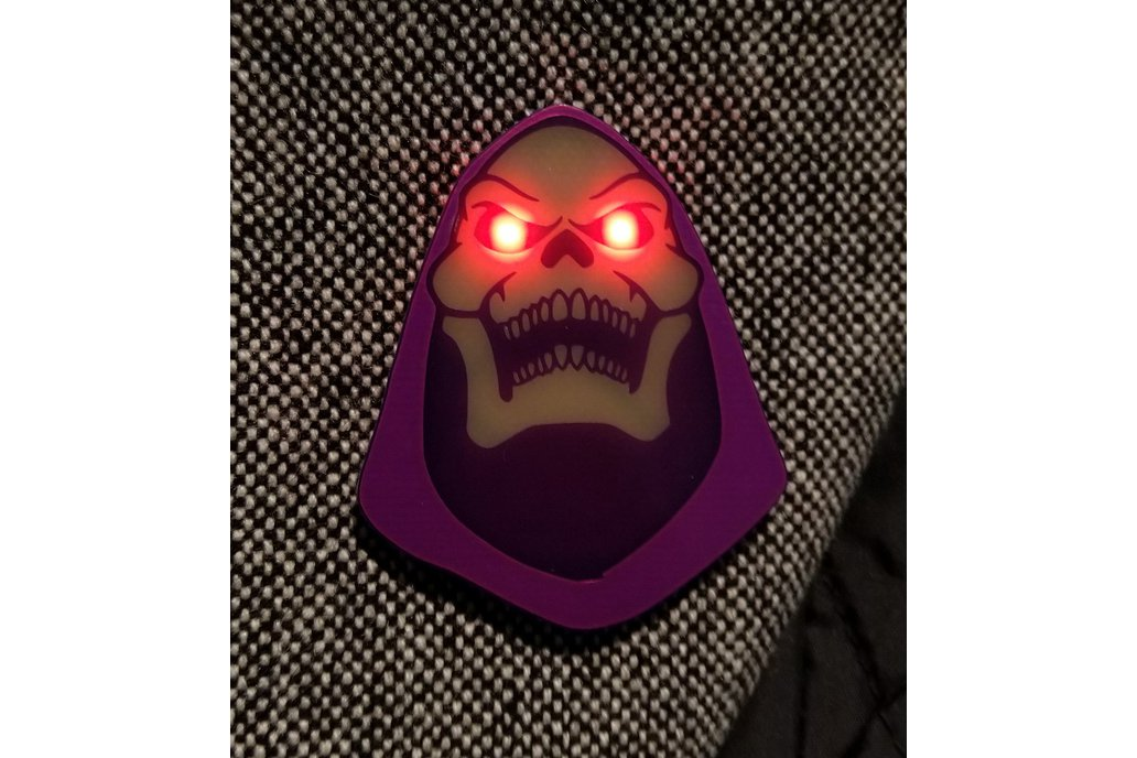 """Myah!"" Badge (Inspired by Skeletor) 1"