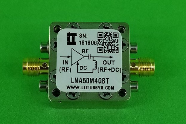 Broadband LNA 0.8dN NF 50MHz~4GHz with Bias Tee