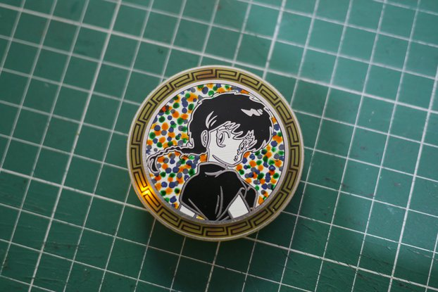 Anime chick pin