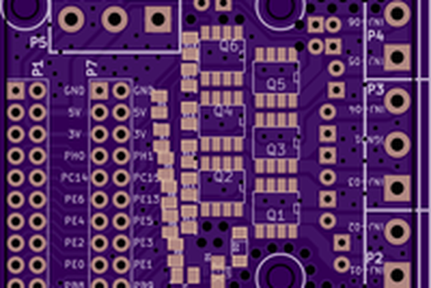 6 EXTRA channel injector driver PCB