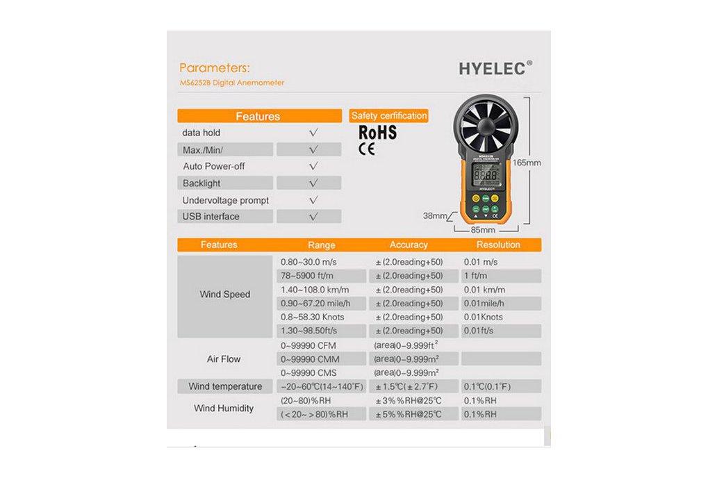 Multi. Digital Anemometer/Tachometer  6