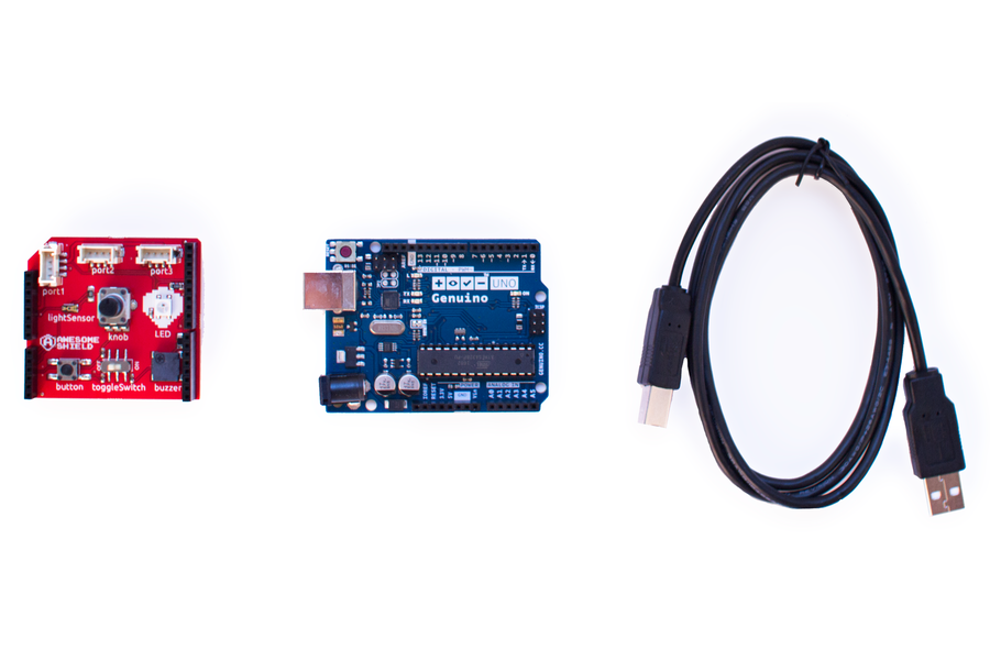 Awesome Shield - Learn to Code for Arduino!