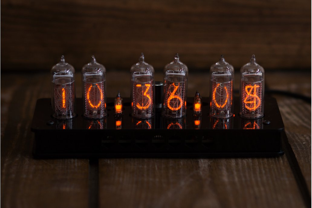 IN-14 Nixie Tube Clock Black Enclosure 4